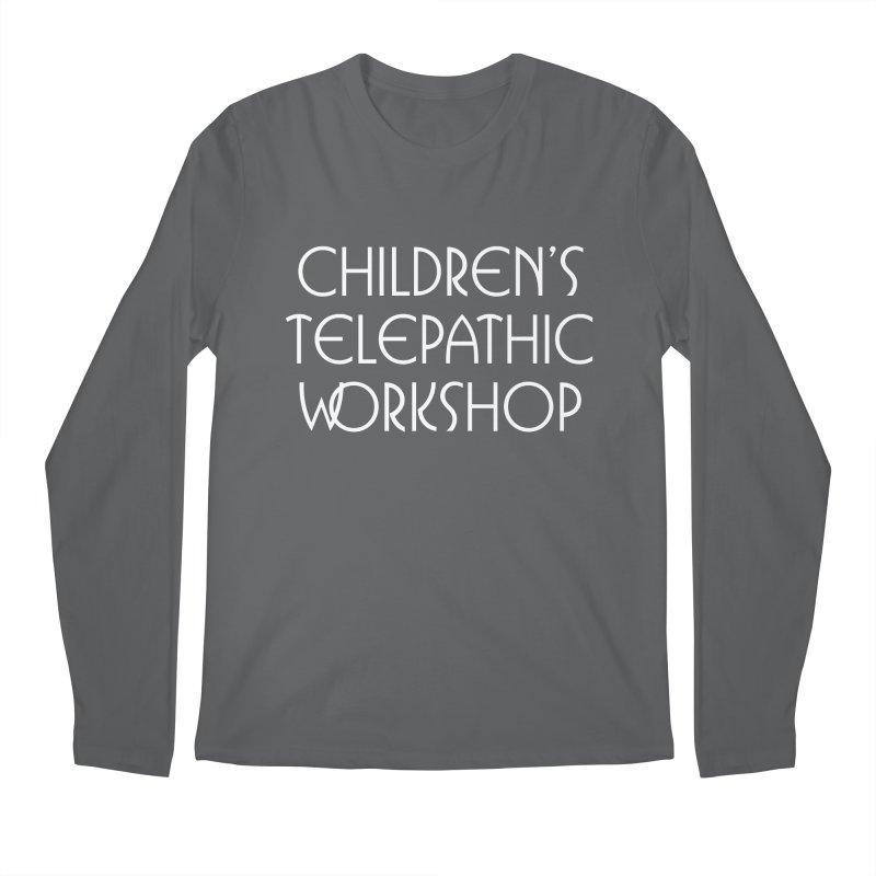 Children's Telepathic Workshop Logo (White / Stacked) Men's Longsleeve T-Shirt by Children's Telepathic Workshop