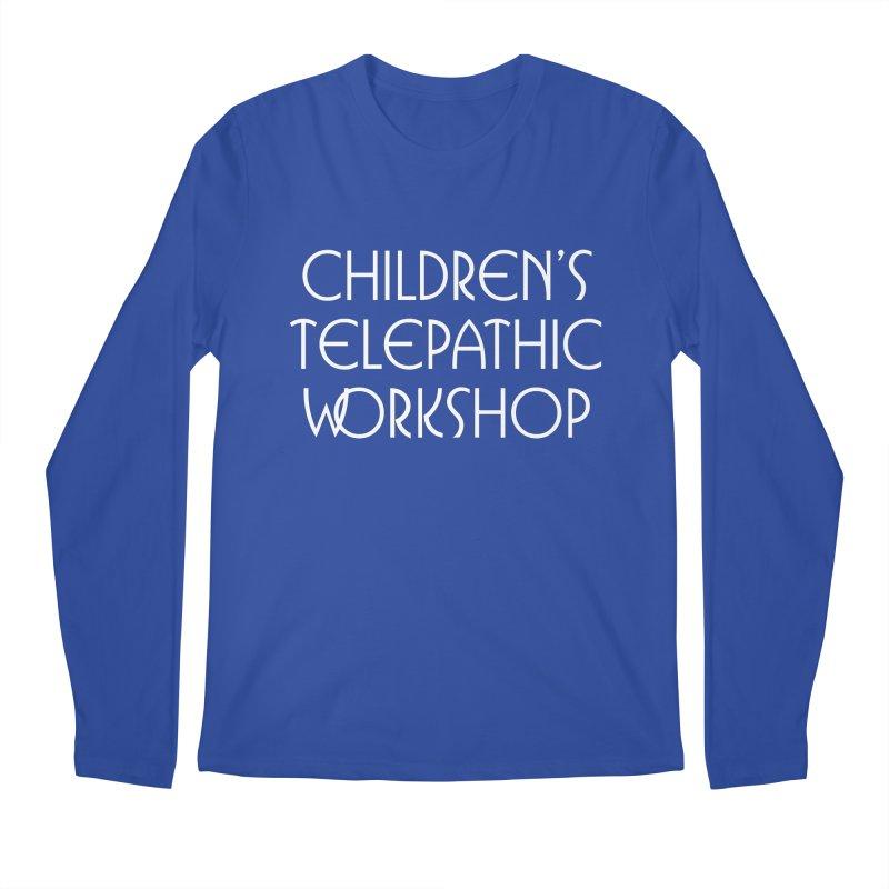 Children's Telepathic Workshop Logo (White / Stacked) Men's Regular Longsleeve T-Shirt by Children's Telepathic Workshop