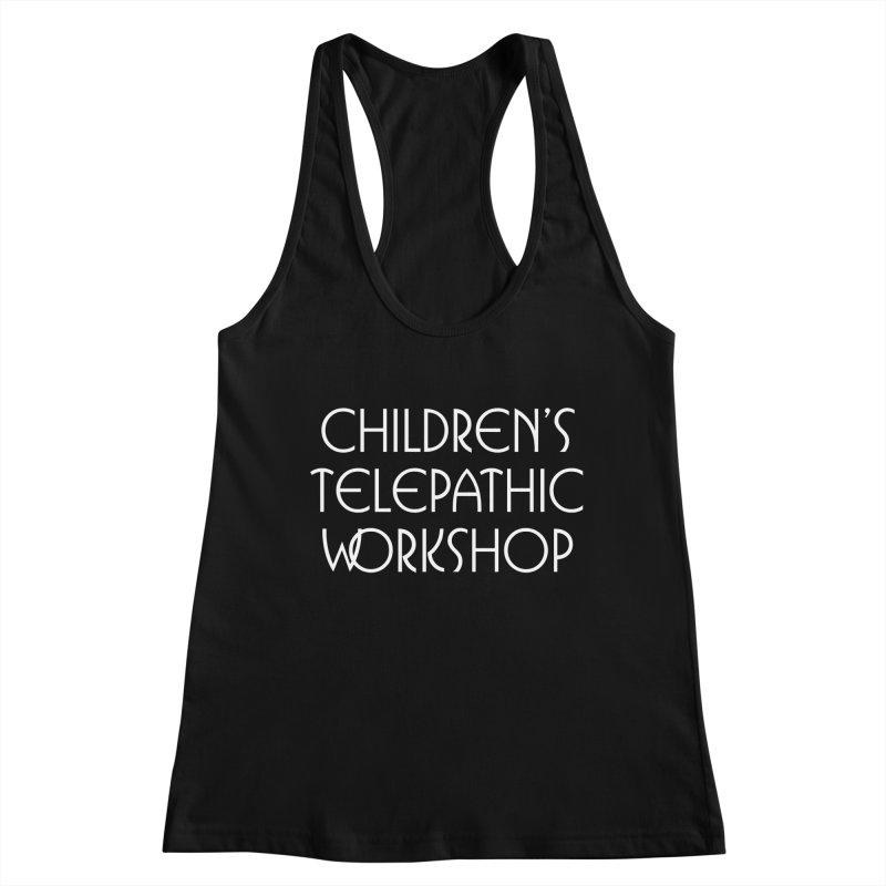 Children's Telepathic Workshop Logo (White / Stacked) Women's Racerback Tank by Children's Telepathic Workshop