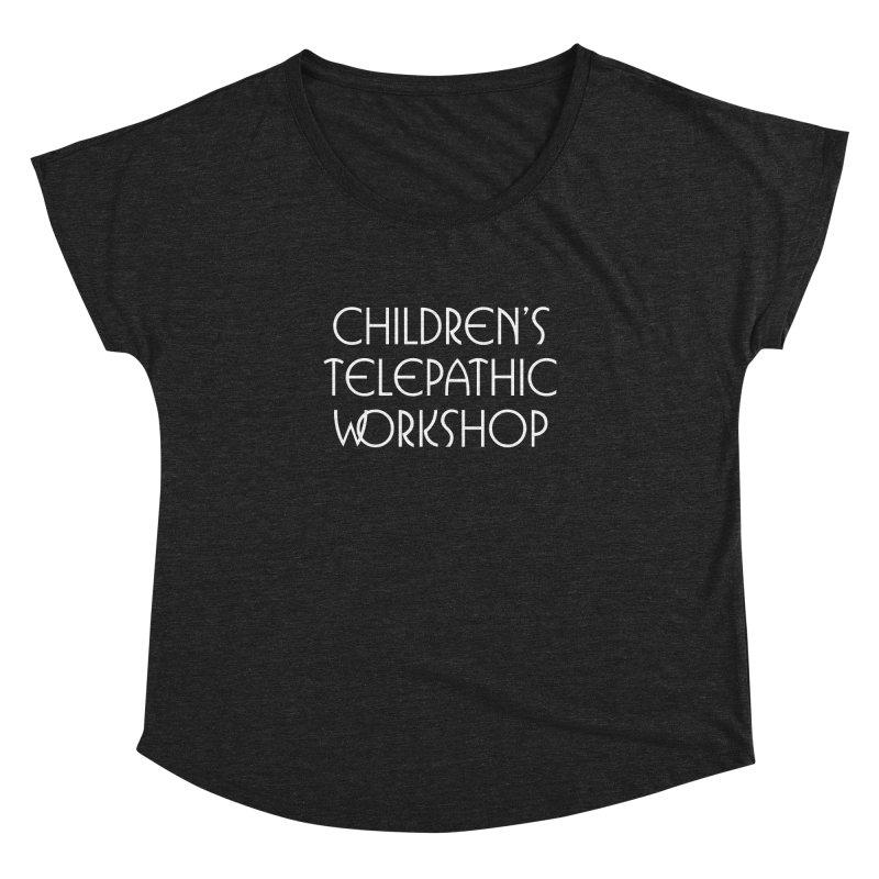 Children's Telepathic Workshop Logo (White / Stacked) Women's Dolman Scoop Neck by Children's Telepathic Workshop