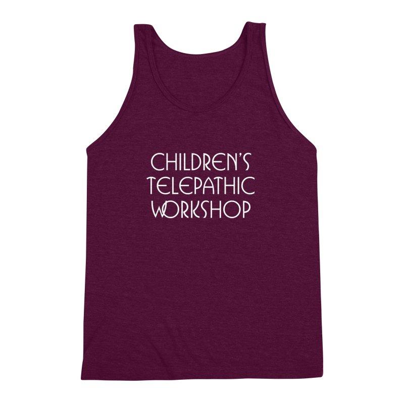 Children's Telepathic Workshop Logo (White / Stacked) Men's Triblend Tank by Children's Telepathic Workshop