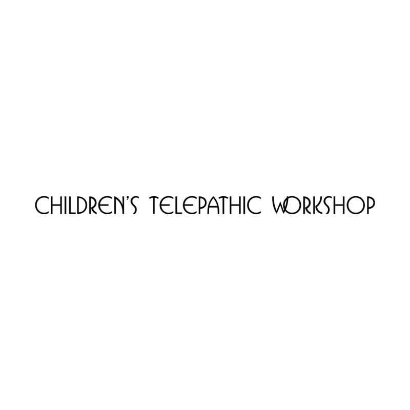Children's Telepathic Workshop Logo (Black / Horizontal) Men's Longsleeve T-Shirt by Children's Telepathic Workshop
