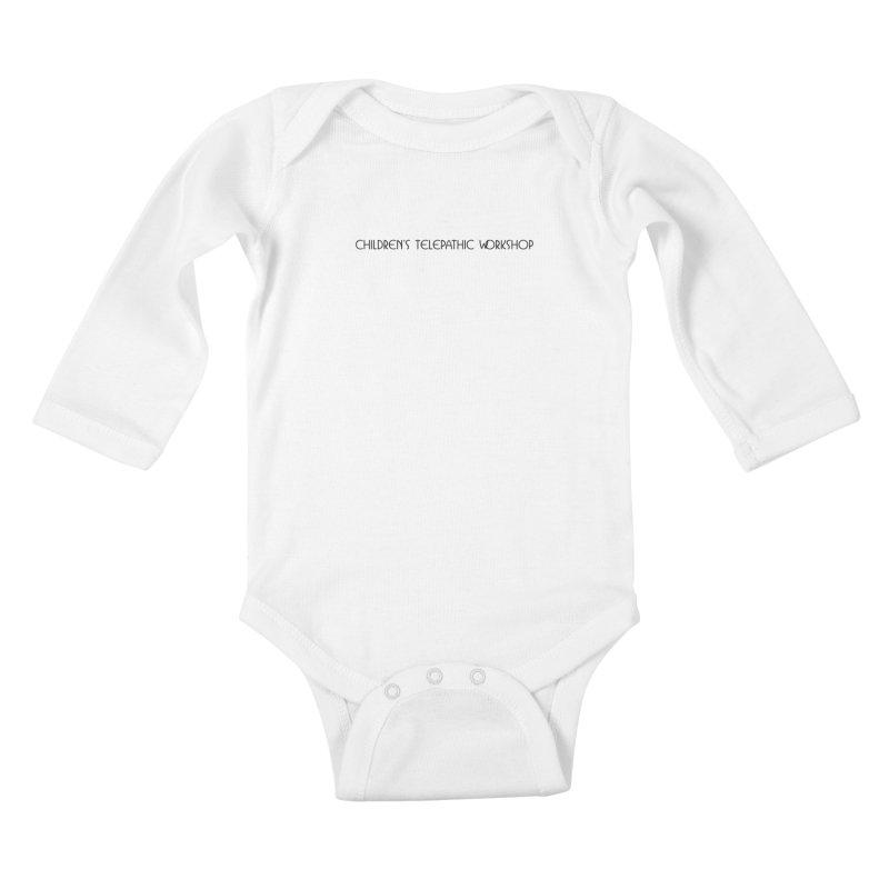 Children's Telepathic Workshop Logo (Black / Horizontal) Kids Baby Longsleeve Bodysuit by Children's Telepathic Workshop