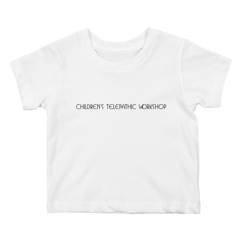 Children's Telepathic Workshop Logo (Black / Horizontal) Kids Baby T-Shirt by Children's Telepathic Workshop