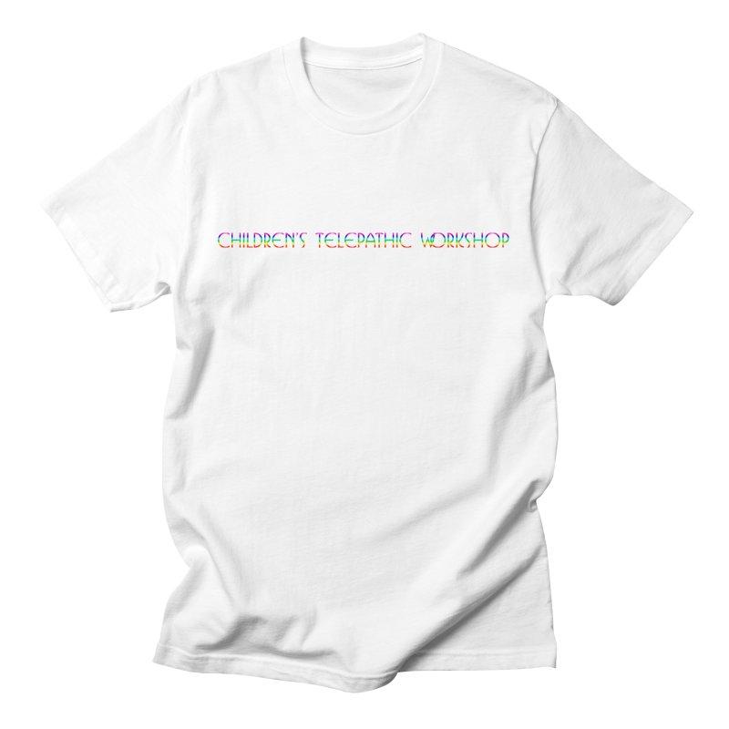 The Children's Telepathic Workshop Logo (Rainbow / Horizontal) Men's T-Shirt by Children's Telepathic Workshop
