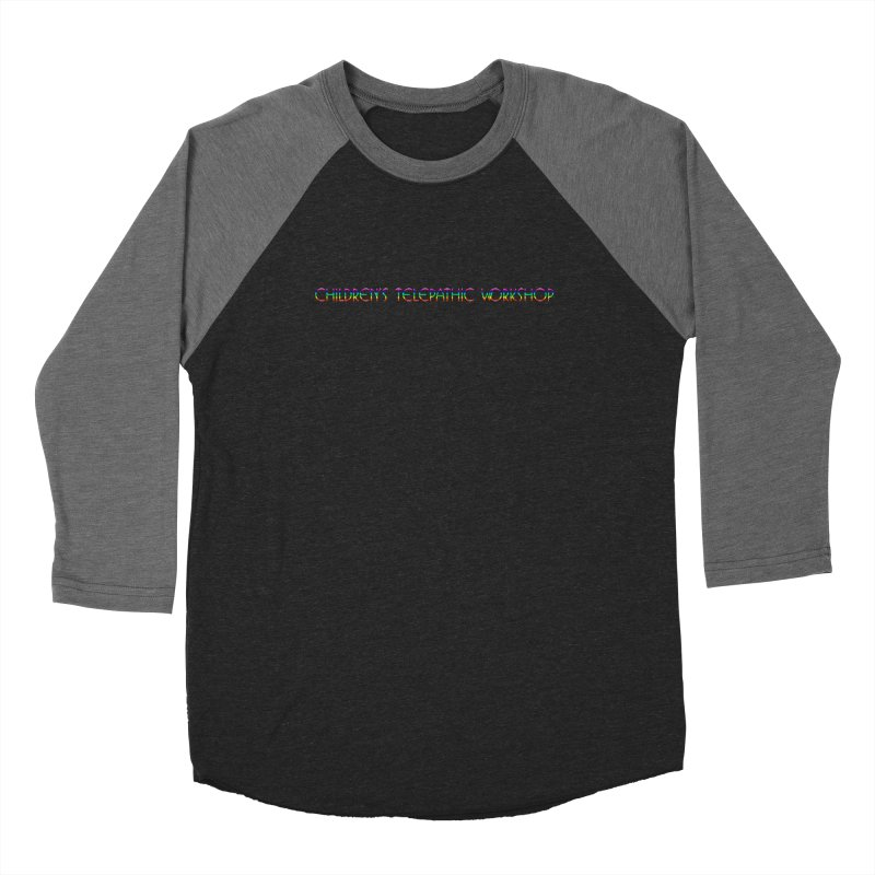 The Children's Telepathic Workshop Logo (Rainbow / Horizontal) Women's Baseball Triblend Longsleeve T-Shirt by Children's Telepathic Workshop