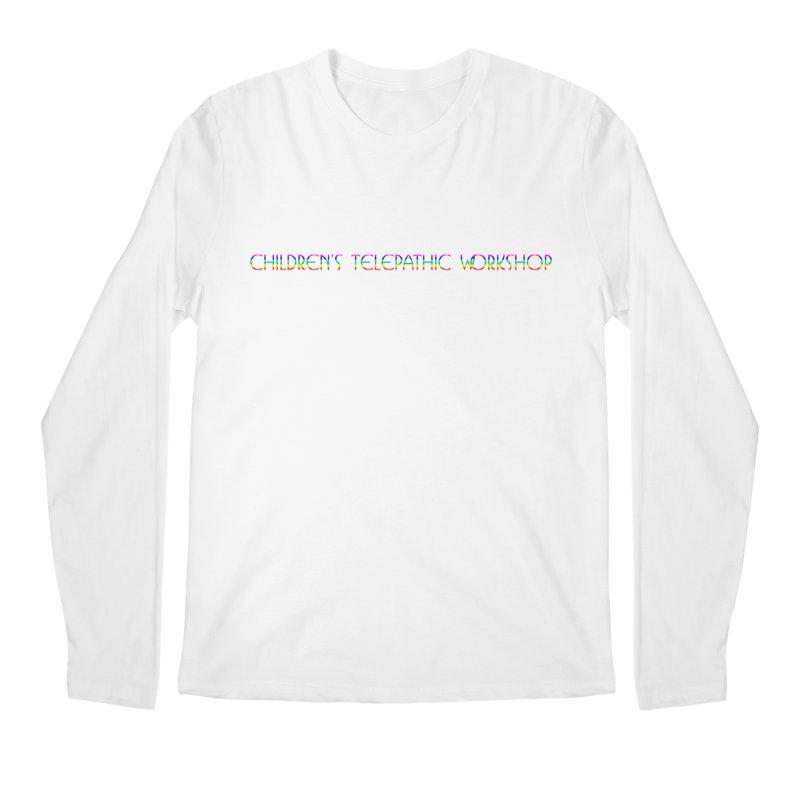 The Children's Telepathic Workshop Logo (Rainbow / Horizontal) Men's Regular Longsleeve T-Shirt by Children's Telepathic Workshop