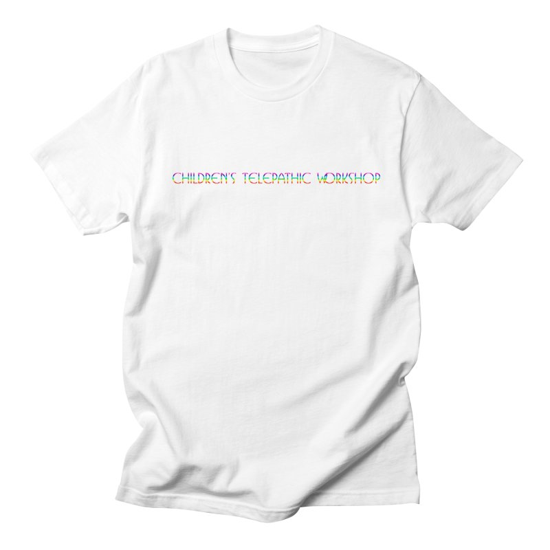The Children's Telepathic Workshop Logo (Rainbow / Horizontal) Women's Regular Unisex T-Shirt by Children's Telepathic Workshop