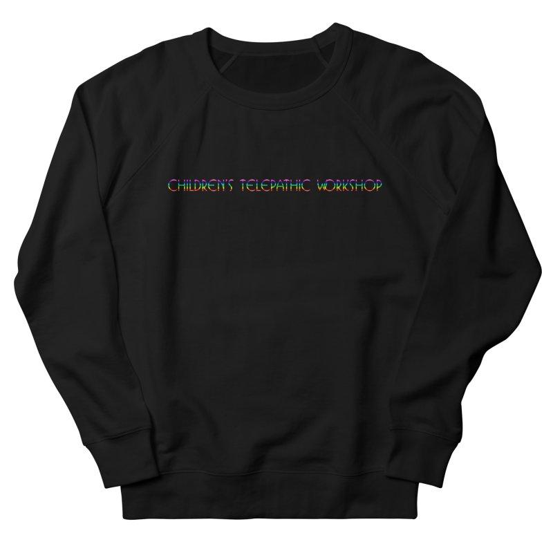 The Children's Telepathic Workshop Logo (Rainbow / Horizontal) Men's French Terry Sweatshirt by Children's Telepathic Workshop
