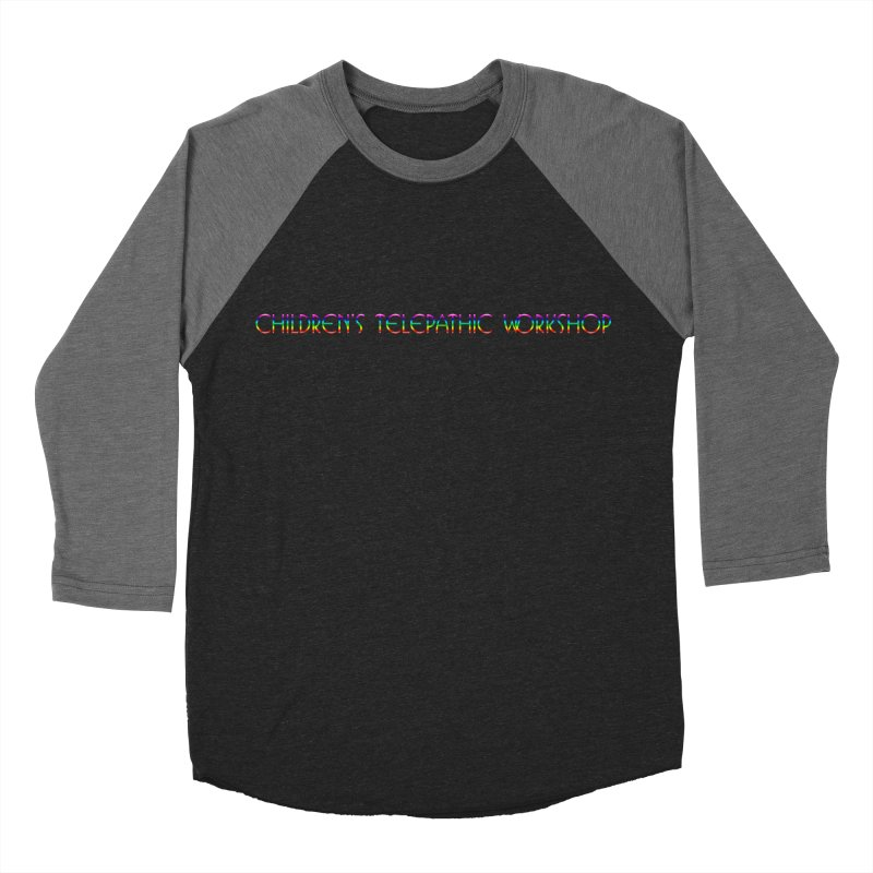 The Children's Telepathic Workshop Logo (Rainbow / Horizontal) Men's Baseball Triblend Longsleeve T-Shirt by Children's Telepathic Workshop