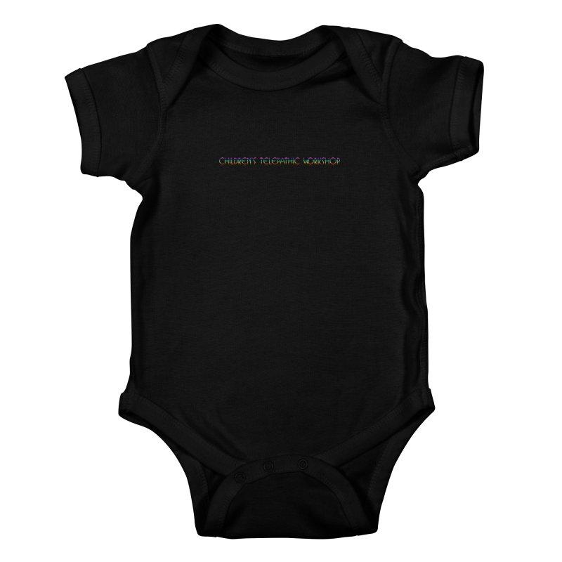 The Children's Telepathic Workshop Logo (Rainbow / Horizontal) Kids Baby Bodysuit by Children's Telepathic Workshop