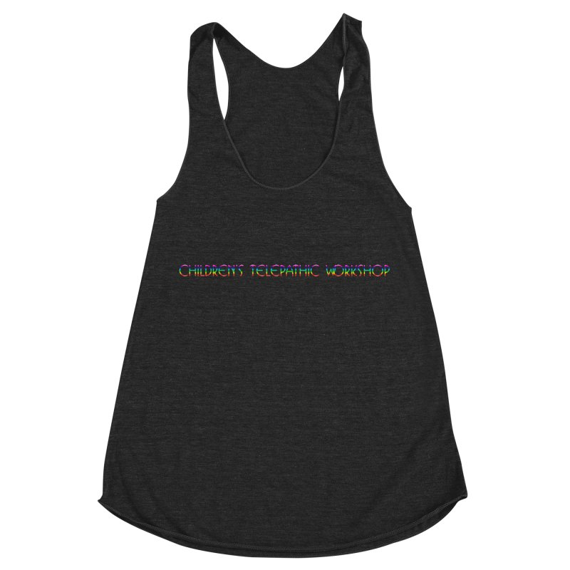 The Children's Telepathic Workshop Logo (Rainbow / Horizontal) Women's Racerback Triblend Tank by Children's Telepathic Workshop