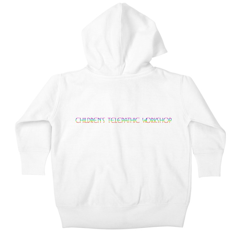 The Children's Telepathic Workshop Logo (Rainbow / Horizontal) Kids Baby Zip-Up Hoody by Children's Telepathic Workshop