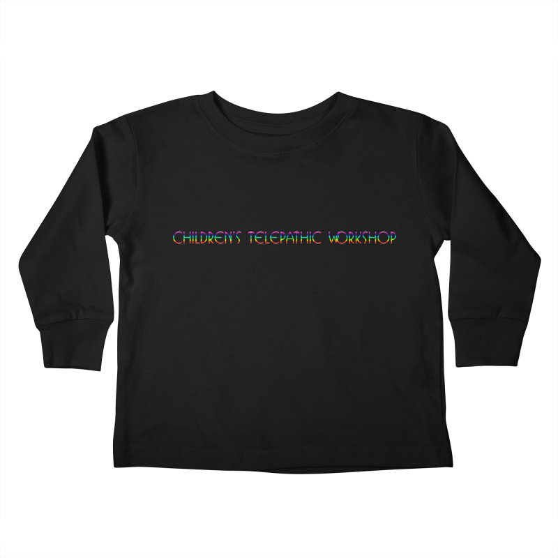 The Children's Telepathic Workshop Logo (Rainbow / Horizontal) Kids Toddler Longsleeve T-Shirt by Children's Telepathic Workshop