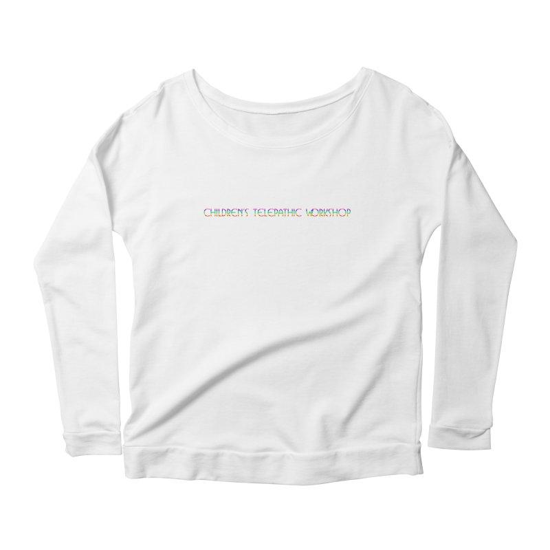 The Children's Telepathic Workshop Logo (Rainbow / Horizontal) Women's Longsleeve T-Shirt by Children's Telepathic Workshop