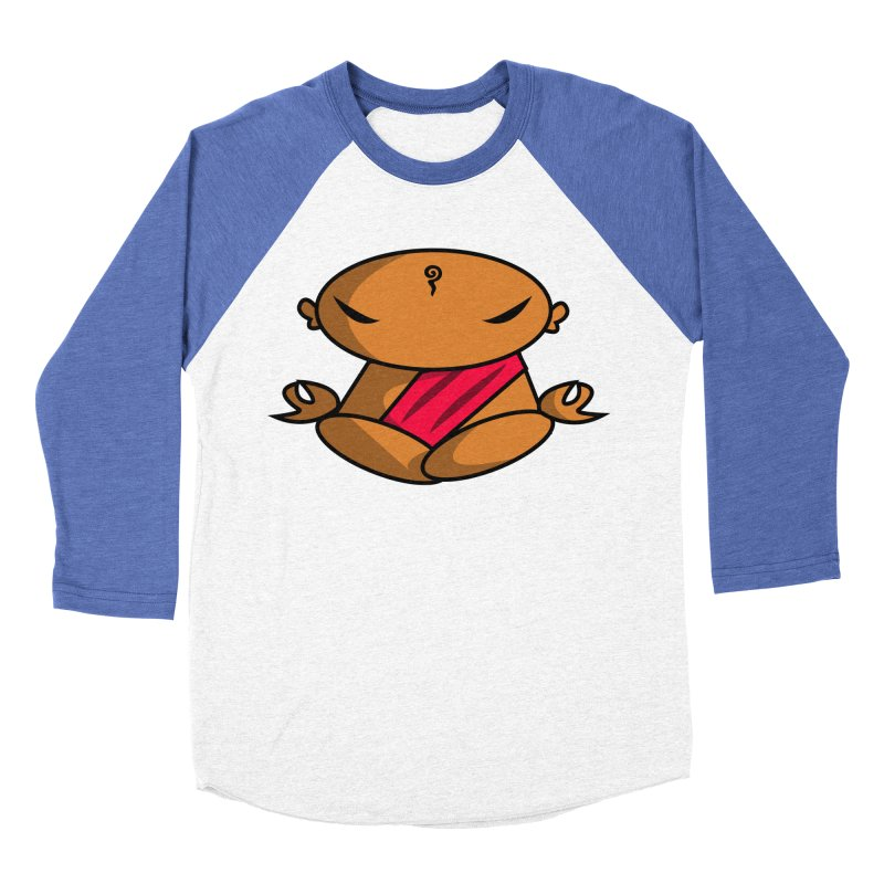 The Buddha, Li Guan Fu (Buddha Beliefs) Women's Baseball Triblend Longsleeve T-Shirt by Children's Telepathic Workshop