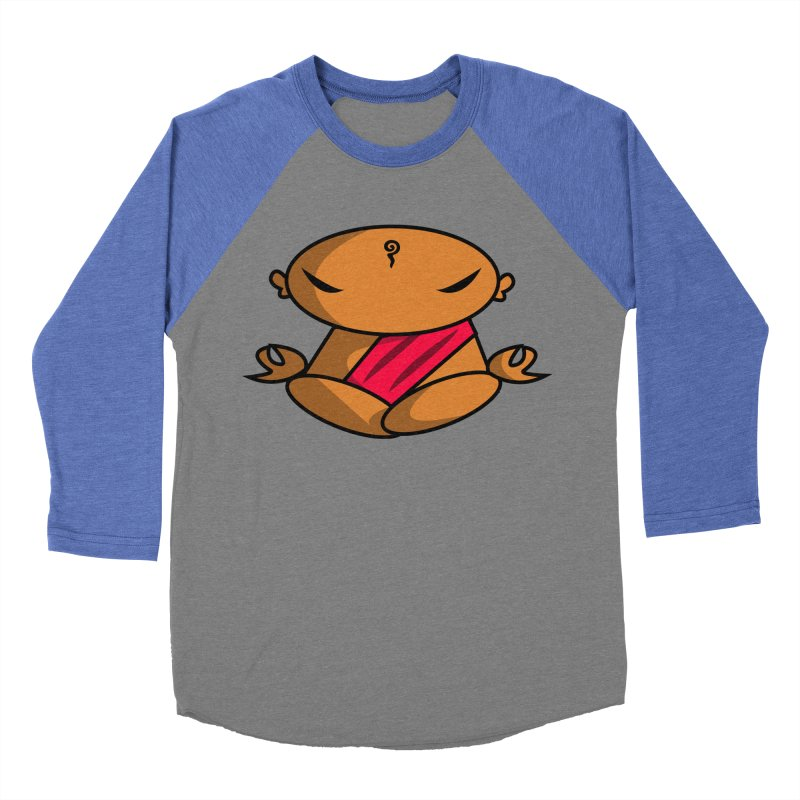 The Buddha, Li Guan Fu (Buddha Beliefs) Men's Baseball Triblend Longsleeve T-Shirt by Children's Telepathic Workshop