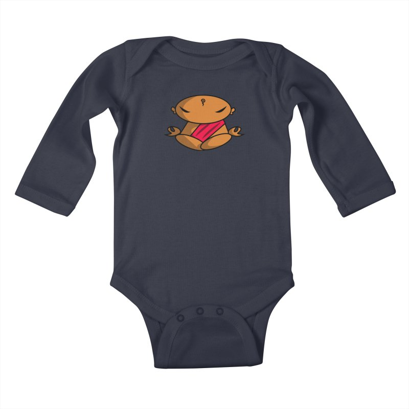 The Buddha, Li Guan Fu (Buddha Beliefs) Kids Baby Longsleeve Bodysuit by Children's Telepathic Workshop