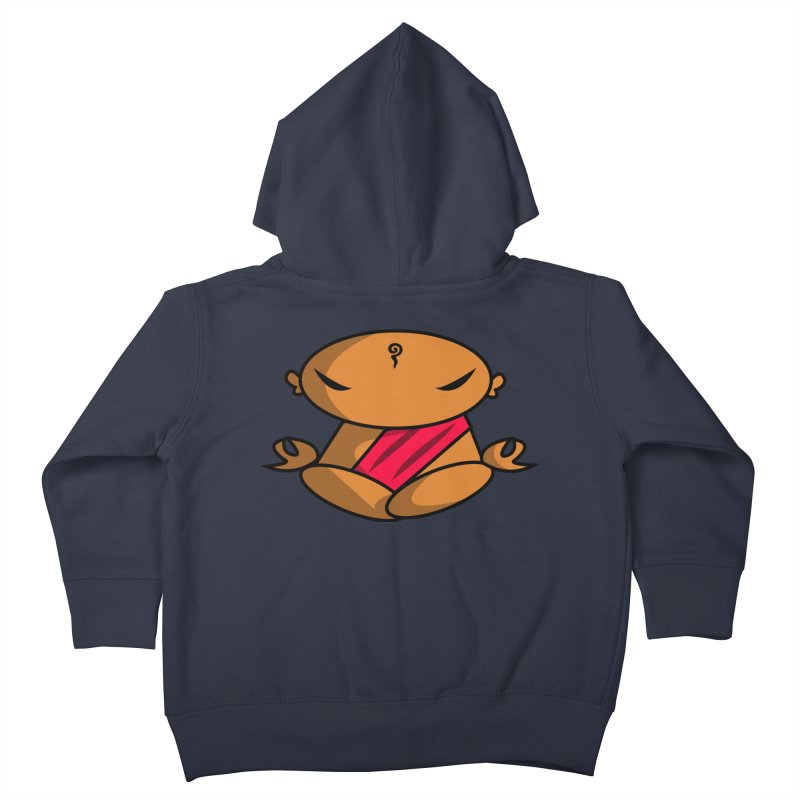 The Buddha, Li Guan Fu (Buddha Beliefs) Kids Toddler Zip-Up Hoody by Children's Telepathic Workshop
