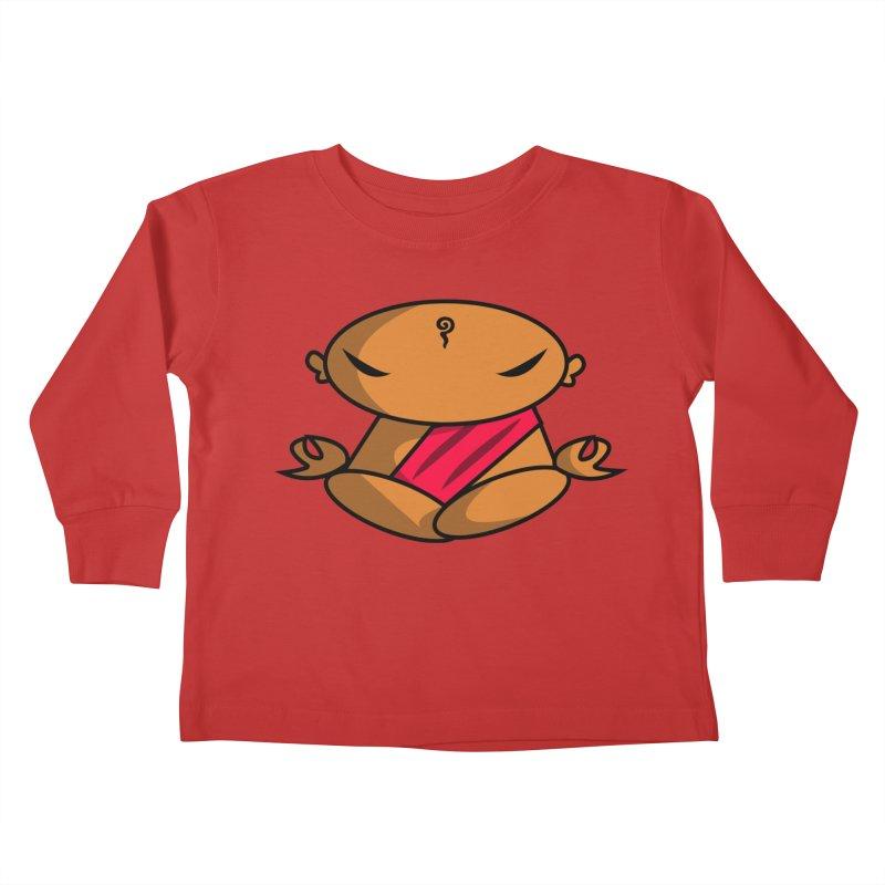 The Buddha, Li Guan Fu (Buddha Beliefs) Kids Toddler Longsleeve T-Shirt by Children's Telepathic Workshop