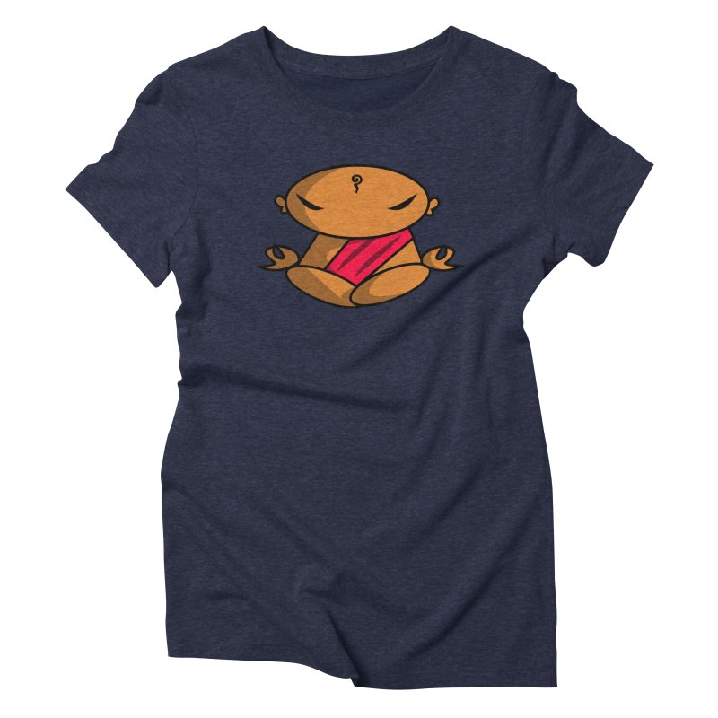 The Buddha, Li Guan Fu (Buddha Beliefs) Women's Triblend T-Shirt by Children's Telepathic Workshop