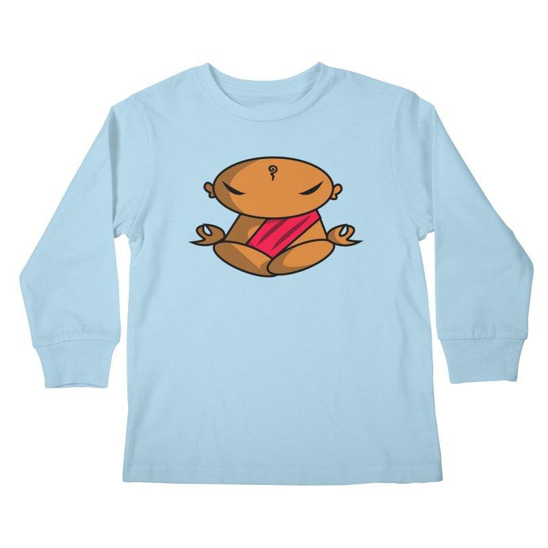 The Buddha, Li Guan Fu (Buddha Beliefs) Kids Longsleeve T-Shirt by Children's Telepathic Workshop