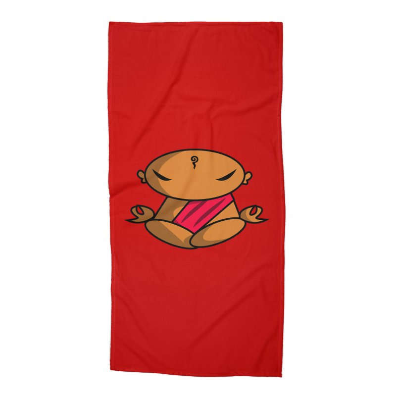 The Buddha, Li Guan Fu (Buddha Beliefs) Accessories Beach Towel by Children's Telepathic Workshop