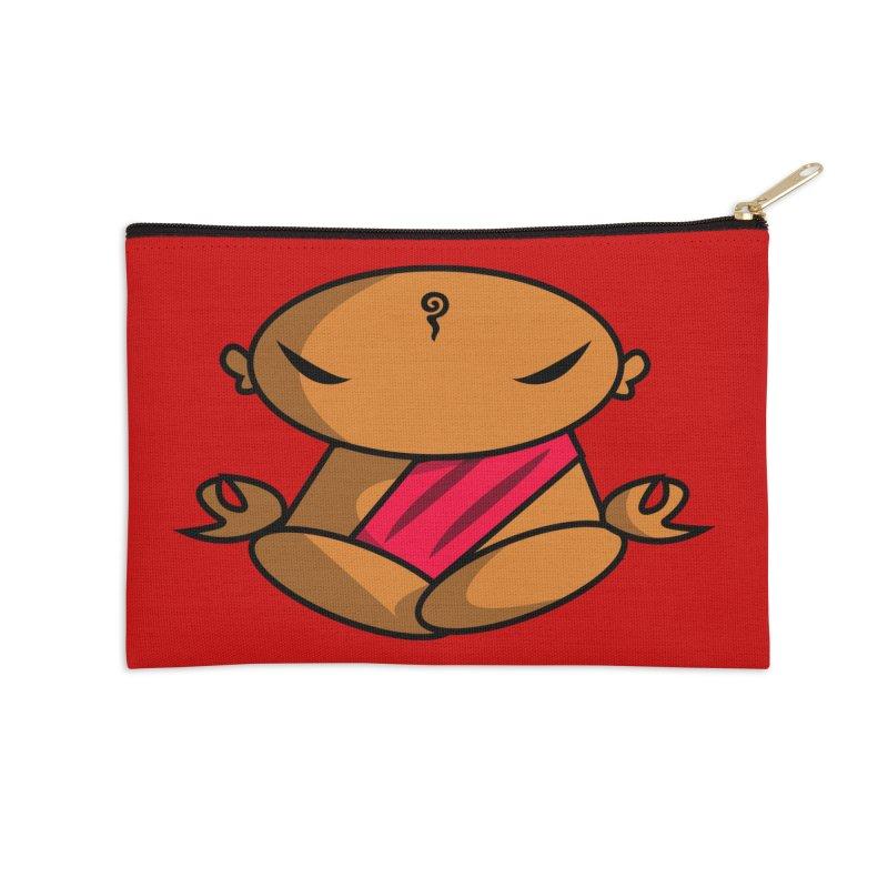 The Buddha, Li Guan Fu (Buddha Beliefs) Accessories Zip Pouch by Children's Telepathic Workshop