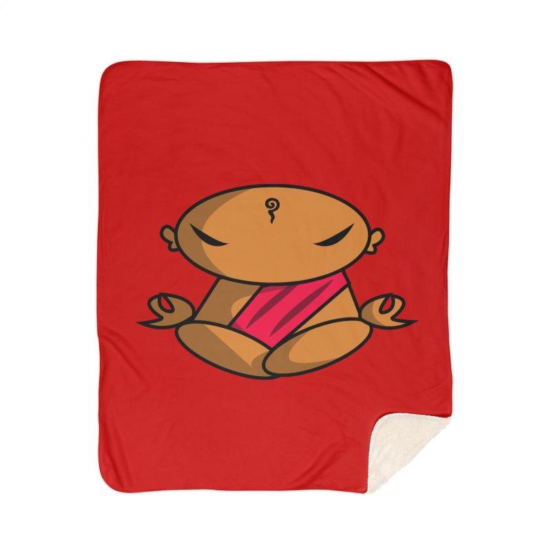 The Buddha, Li Guan Fu (Buddha Beliefs) Home Sherpa Blanket Blanket by Children's Telepathic Workshop