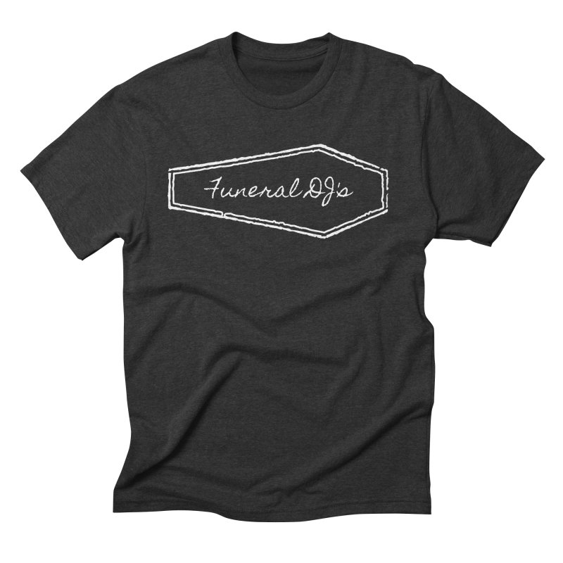 Funeral DJ's Logo - Coffin Men's Triblend T-Shirt by Children's Telepathic Workshop