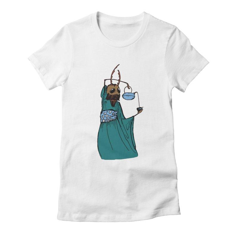 Geisha Tim Women's Fitted T-Shirt by Children's Telepathic Workshop