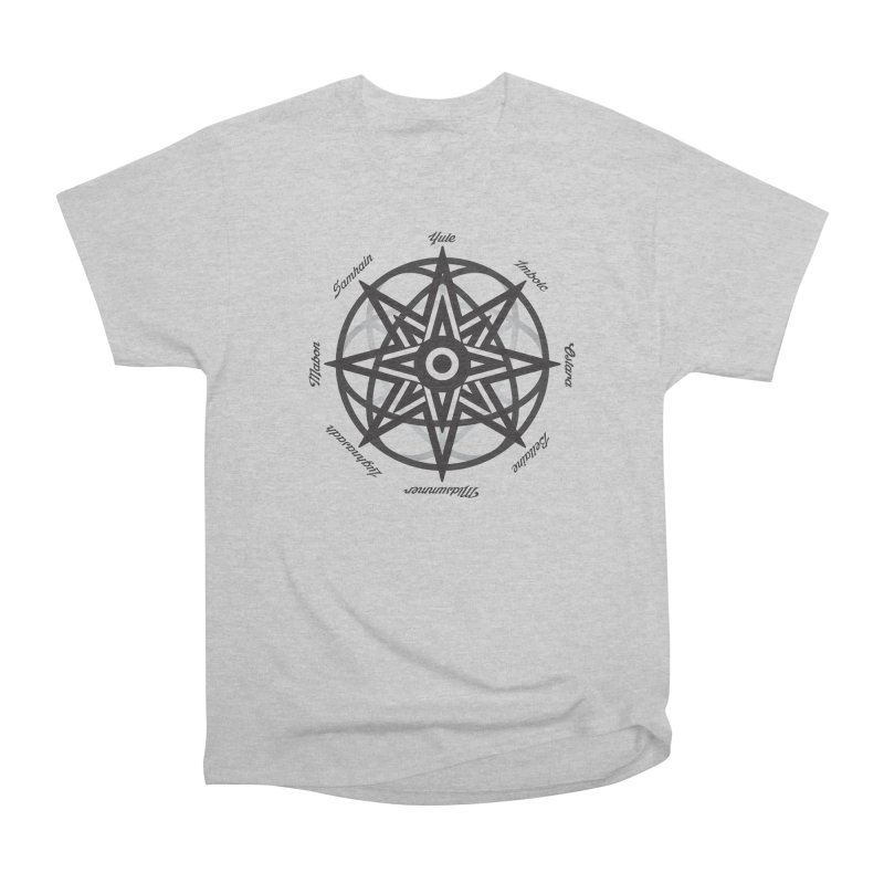 The Wheel of the Year (Pagan Holidays) Men's Heavyweight T-Shirt by Children's Telepathic Workshop