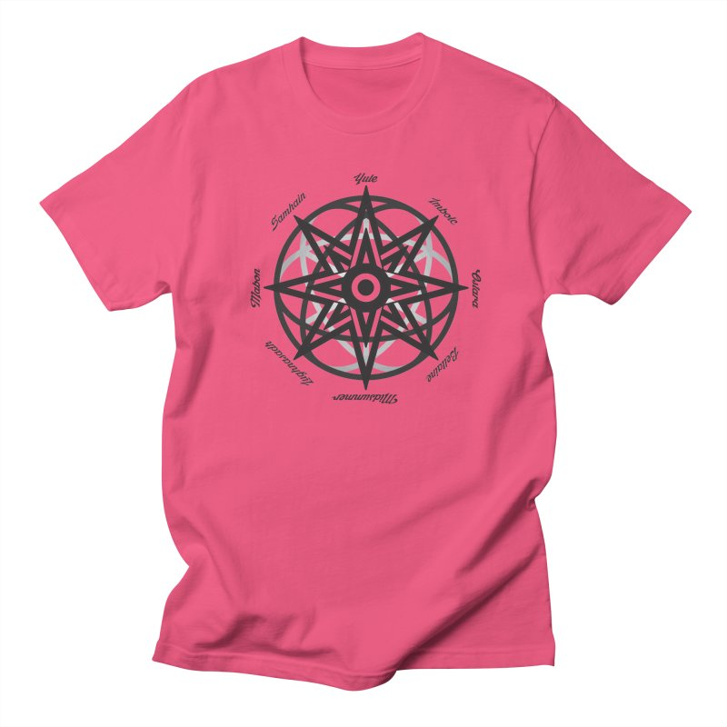 The Wheel of the Year (Pagan Holidays) Men's Regular T-Shirt by Children's Telepathic Workshop