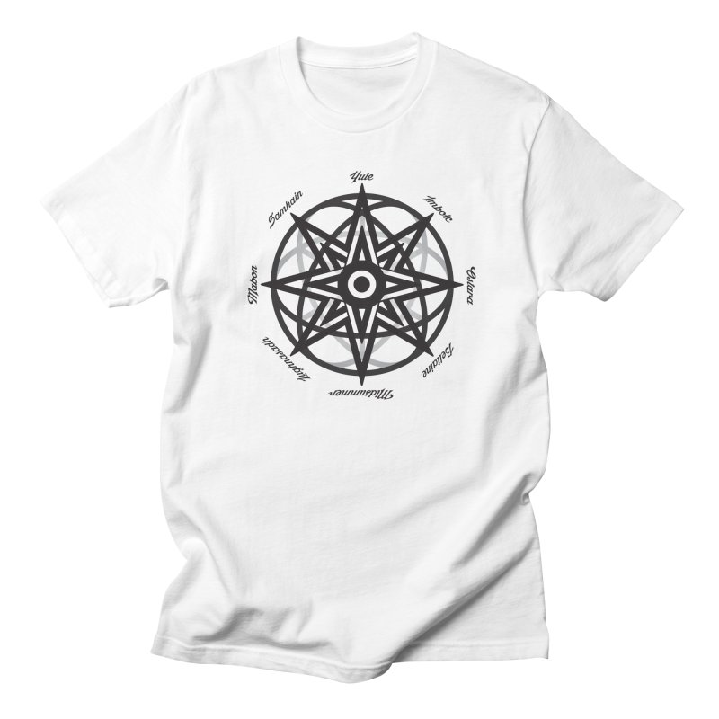 The Wheel of the Year (Pagan Holidays) Women's Regular Unisex T-Shirt by Children's Telepathic Workshop