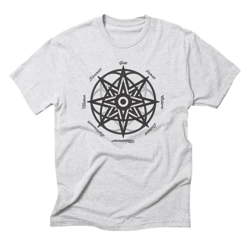 The Wheel of the Year (Pagan Holidays) Men's Triblend T-Shirt by Children's Telepathic Workshop