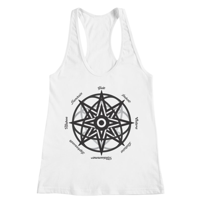 The Wheel of the Year (Pagan Holidays) Women's Racerback Tank by Children's Telepathic Workshop