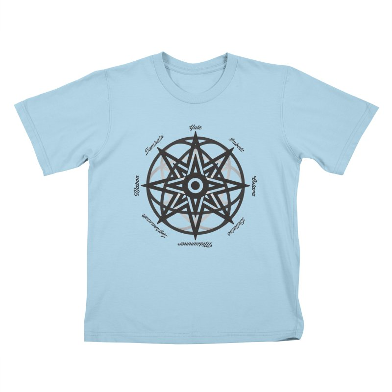 The Wheel of the Year (Pagan Holidays) Kids T-Shirt by Children's Telepathic Workshop