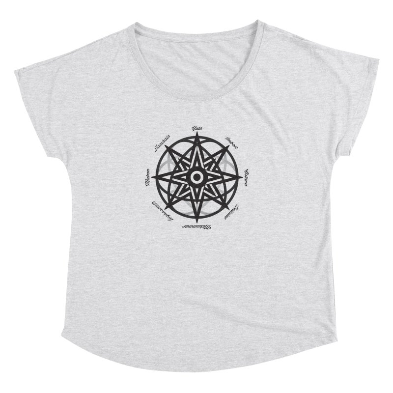 The Wheel of the Year (Pagan Holidays) Women's Dolman Scoop Neck by Children's Telepathic Workshop