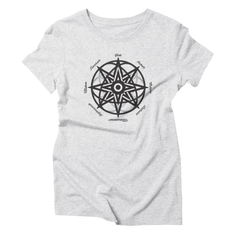 The Wheel of the Year (Pagan Holidays) Women's Triblend T-Shirt by Children's Telepathic Workshop