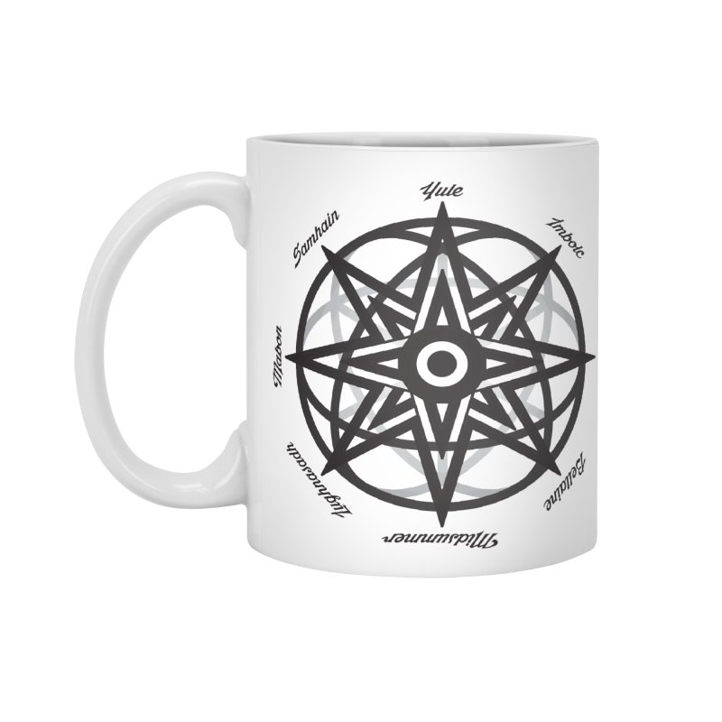 The Wheel of the Year (Pagan Holidays) Accessories Mug by Children's Telepathic Workshop