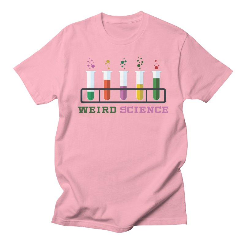 Weird Science Men's Regular T-Shirt by Children's Telepathic Workshop