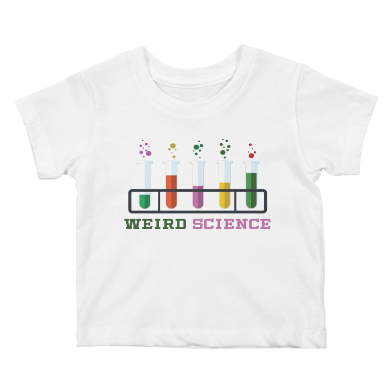 Weird Science Kids Baby T-Shirt by Children's Telepathic Workshop