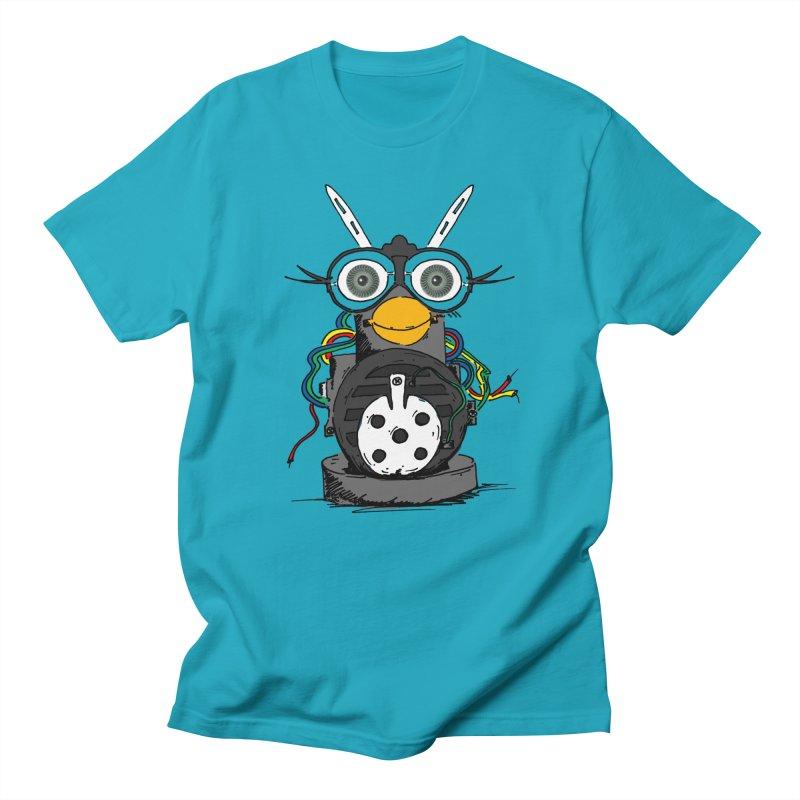 Bent Fur-bot Men's Regular T-Shirt by Children's Telepathic Workshop