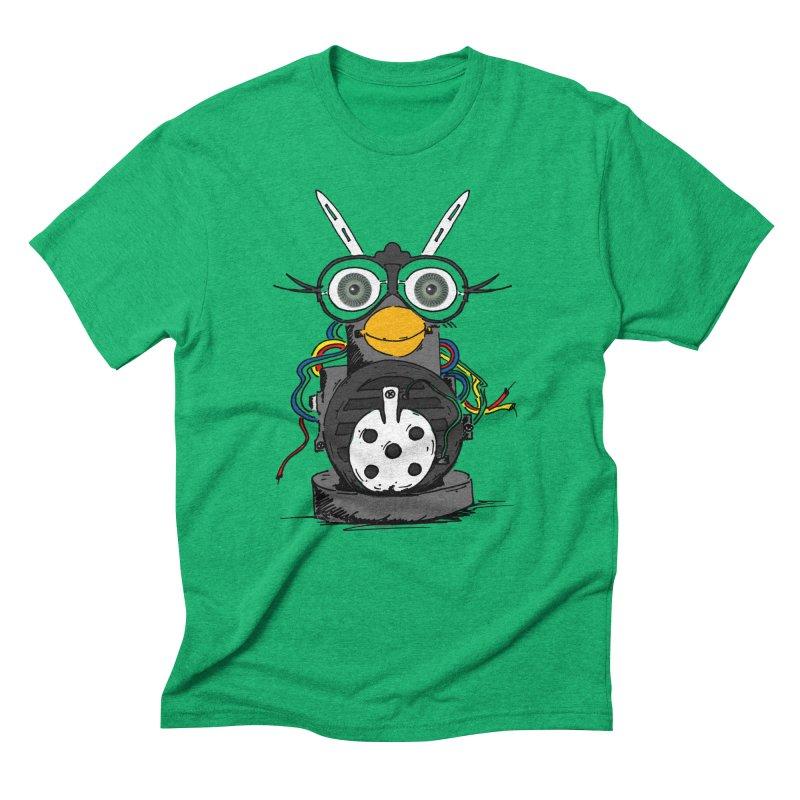 Bent Fur-bot Men's Triblend T-Shirt by Children's Telepathic Workshop