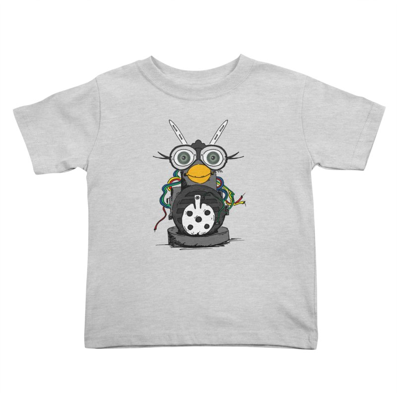 Bent Fur-bot Kids Toddler T-Shirt by Children's Telepathic Workshop