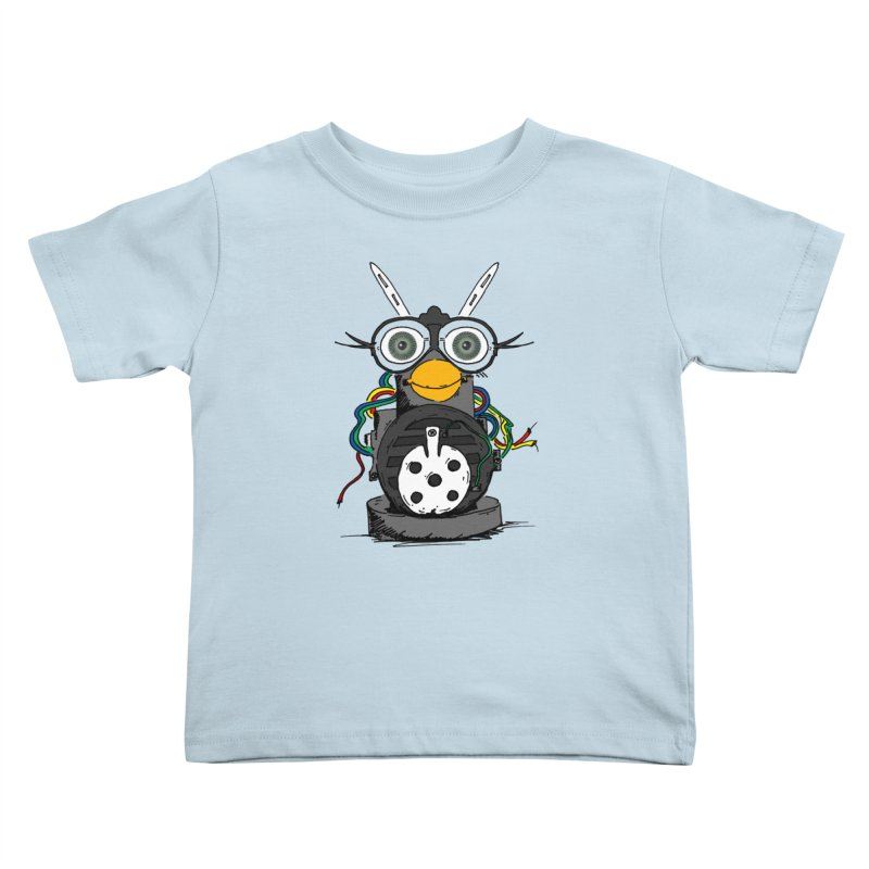 Bent Fur-bot Kids Toddler T-Shirt by Children's Telepathic Workshop