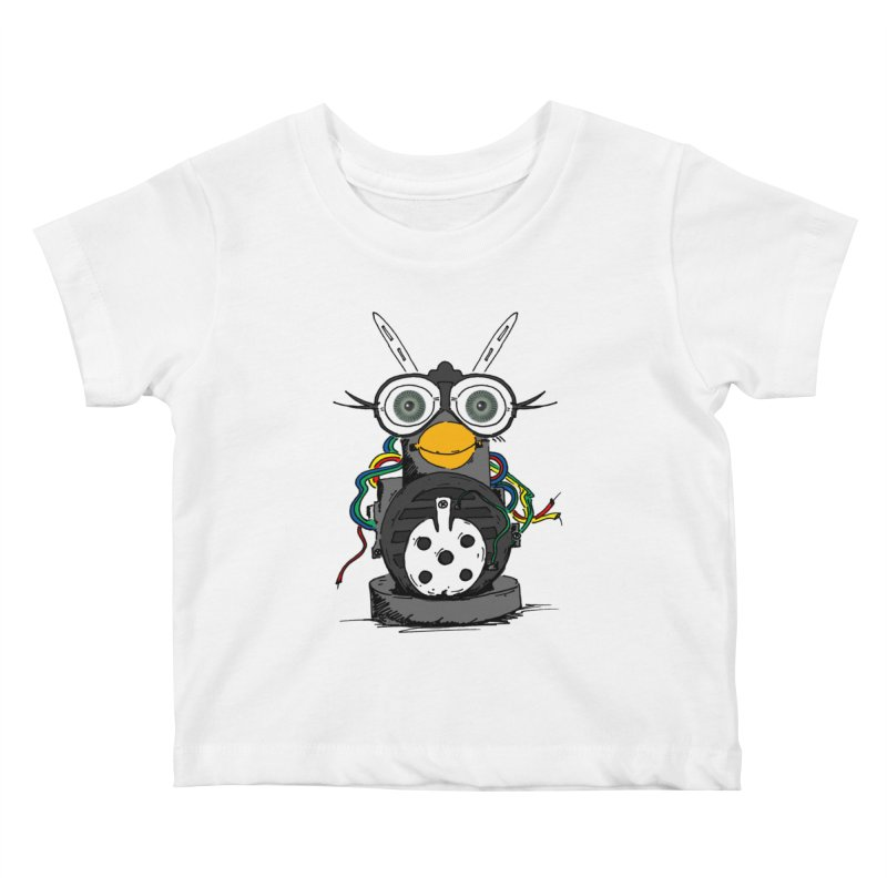 Bent Fur-bot Kids Baby T-Shirt by Children's Telepathic Workshop