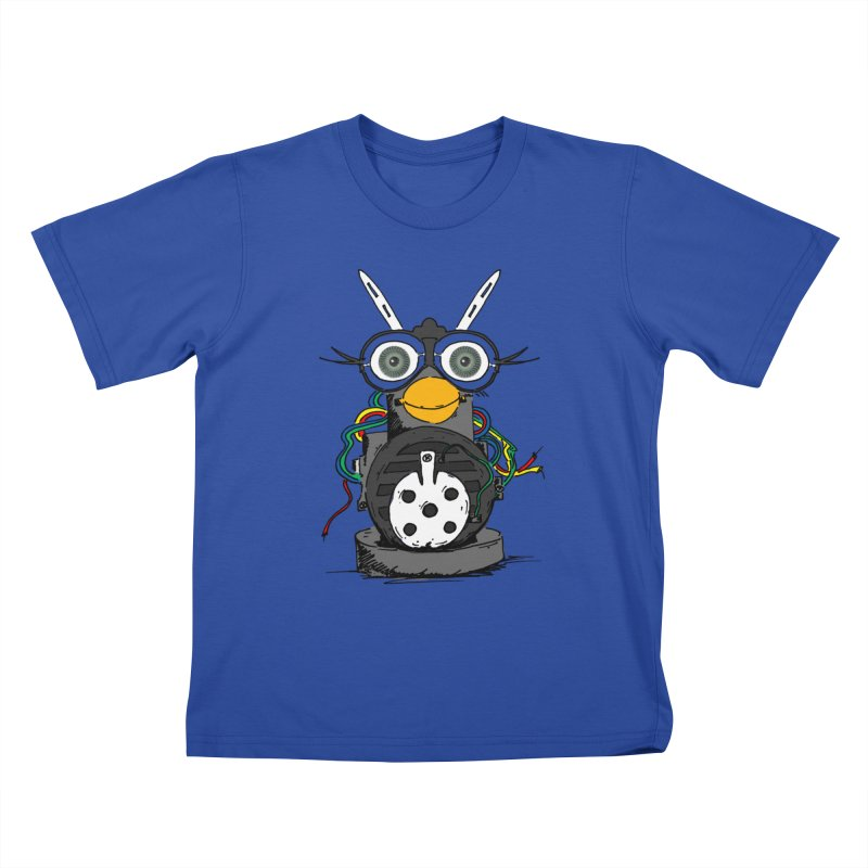 Bent Fur-bot Kids T-Shirt by Children's Telepathic Workshop