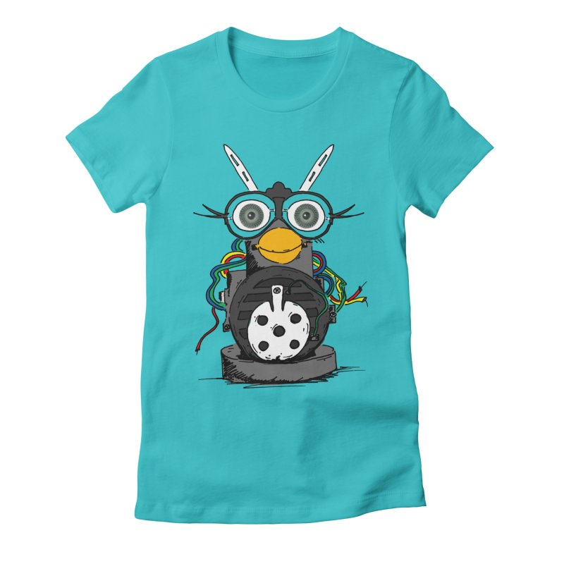 Bent Fur-bot Women's Fitted T-Shirt by Children's Telepathic Workshop
