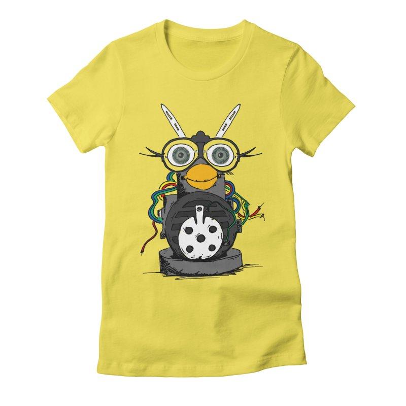 Bent Fur-bot Women's T-Shirt by Children's Telepathic Workshop